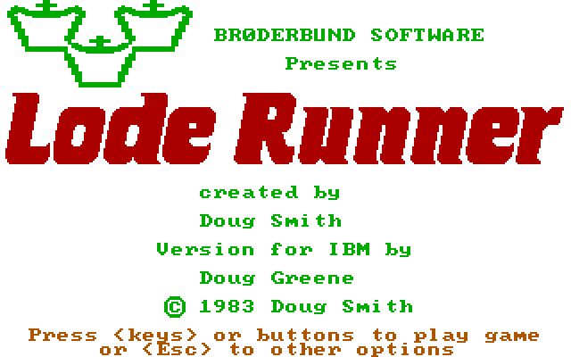 MS-DOS Lode Runner - 1983